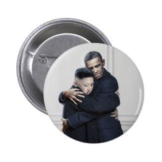 Amor de la O.N.U Corea del Norte de Obama Kim Jong Pin Redondo 5 Cm