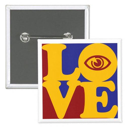 Amor de la optometría pin cuadrado