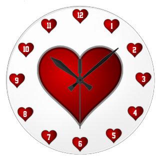 Amor de la paloma reloj redondo grande