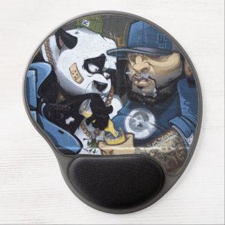 Amor de la panda alfombrilla de raton con gel