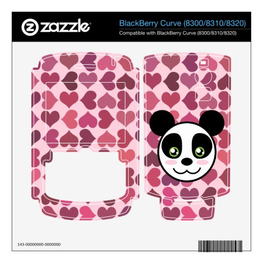 """""""Amor de la panda """" BlackBerry Curve Calcomanías"""