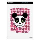 """""""Amor de la panda """" Calcomanías Para El iPad 2"""