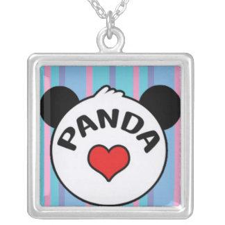 Amor de la panda colgante cuadrado