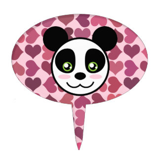 """""""Amor de la panda """" Figuras Para Tartas"""