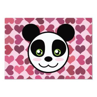 """""""Amor de la panda """" Invitación 3.5"""" X 5"""""""