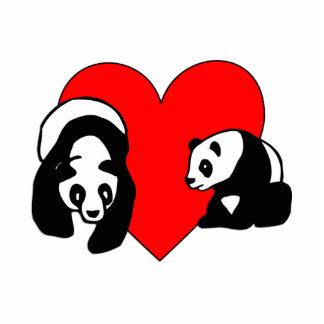 Amor de la panda llavero fotográfico