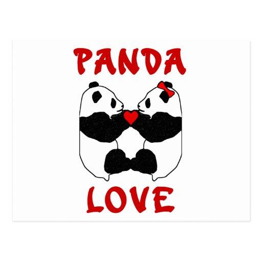 Amor de la panda postales