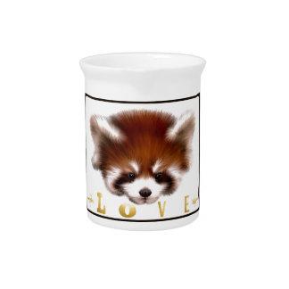 Amor de la panda roja jarrón