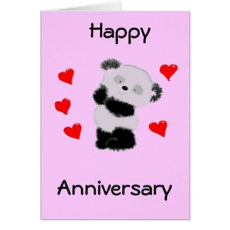 Amor de la panda tarjeta de felicitación