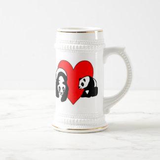Amor de la panda tazas de café