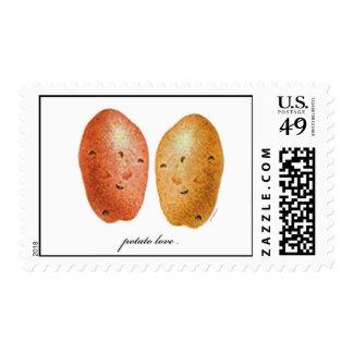 Amor de la patata timbre postal