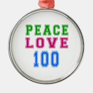 Amor de la paz 100 diseños del cumpleaños adorno