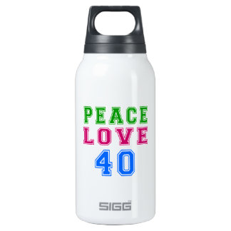 Amor de la paz 40 diseños del cumpleaños