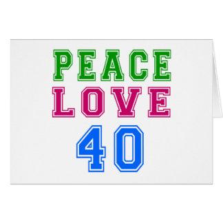 Amor de la paz 40 diseños del cumpleaños felicitaciones