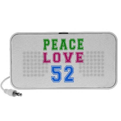 Amor de la paz 52 diseños del cumpleaños iPhone altavoces