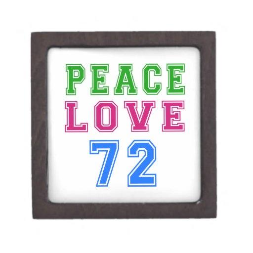 Amor de la paz 72 diseños del cumpleaños caja de joyas de calidad