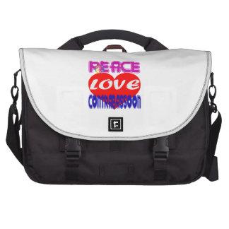 Amor de la paz contra el bassoon bolsas de ordenador
