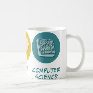 Amor de la paz de informática taza