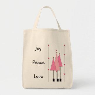 Amor de la paz de la alegría… bolsa tela para la compra