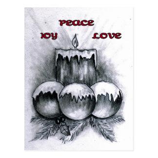 Amor de la paz de la alegría postales
