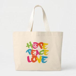 Amor de la paz de la esperanza bolsa