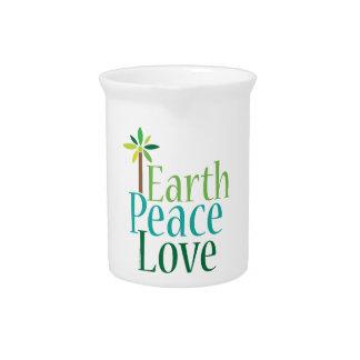 Amor de la paz de la tierra jarras de beber