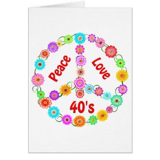 amor de la paz de los años 40 tarjetas