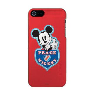 Amor de la paz de Mickey el   del día de fiesta Carcasa De Iphone 5 Incipio Feather Shine