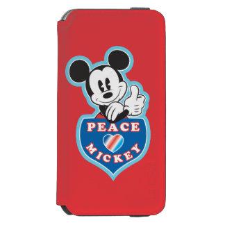 Amor de la paz de Mickey el   del día de fiesta Funda Billetera Para iPhone 6 Watson