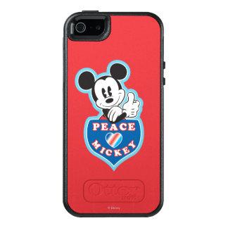 Amor de la paz de Mickey el   del día de fiesta Funda Otterbox Para iPhone 5/5s/SE