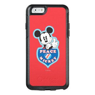 Amor de la paz de Mickey el   del día de fiesta Funda Otterbox Para iPhone 6/6s