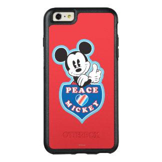 Amor de la paz de Mickey el   del día de fiesta Funda Otterbox Para iPhone 6/6s Plus