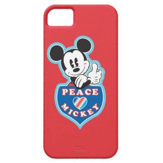 Amor de la paz de Mickey el   del día de fiesta iPhone 5 Carcasas