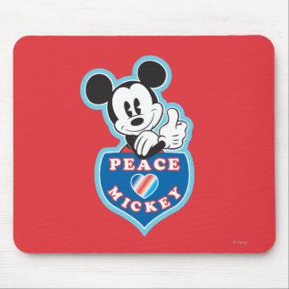 Amor de la paz de Mickey el | del día de fiesta Tapete De Ratón