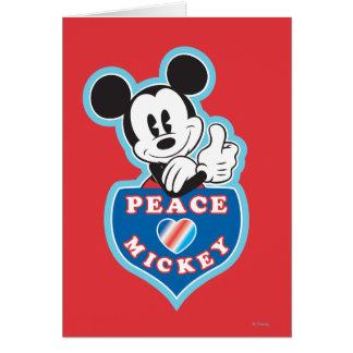 Amor de la paz de Mickey el | del día de fiesta Tarjeta De Felicitación