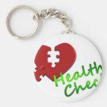 Amor de la paz del doctor Nurse Medical Office Bus Llavero Personalizado