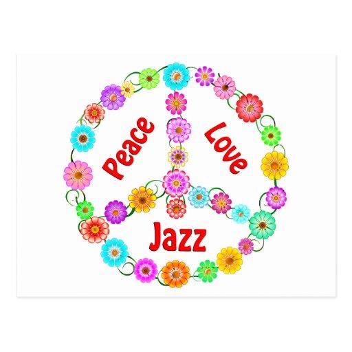 Amor de la paz del jazz postal