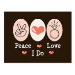 Amor de la paz hago la postal del boda
