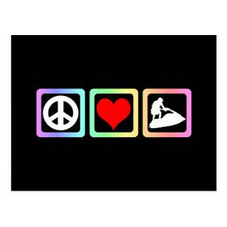Amor de la paz jetskiing postales
