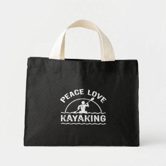 Amor de la paz Kayaking Bolsa Tela Pequeña