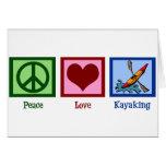 Amor de la paz Kayaking Felicitaciones