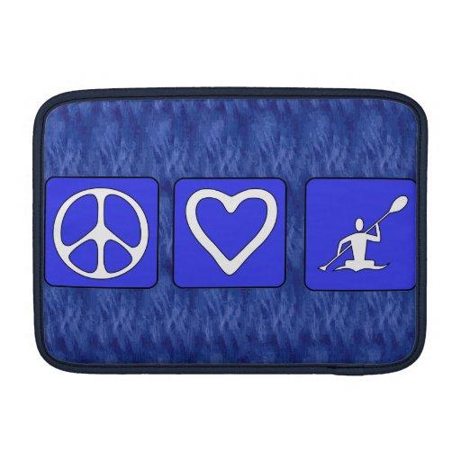 Amor de la paz Kayaking Funda Para Macbook Air