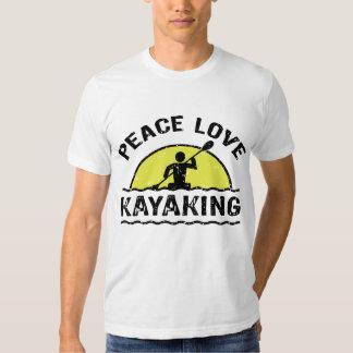 Amor de la paz Kayaking Playeras