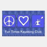 Amor de la paz Kayaking Rectangular Altavoz