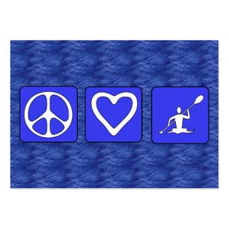 Amor de la paz Kayaking Plantillas De Tarjetas Personales