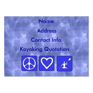 Amor de la paz Kayaking Tarjeta De Visita
