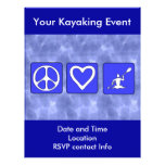 Amor de la paz Kayaking Tarjeton