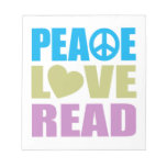 Amor de la paz leído bloc de notas