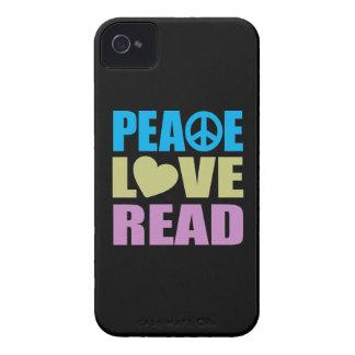 Amor de la paz leído iPhone 4 funda