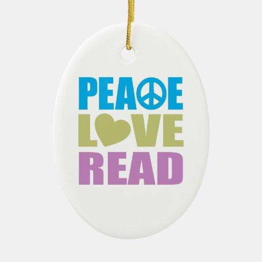Amor de la paz leído ornamentos de reyes